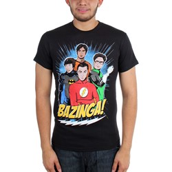 Big Bang Theory - Mens DC Superhero Group Guys T-Shirt