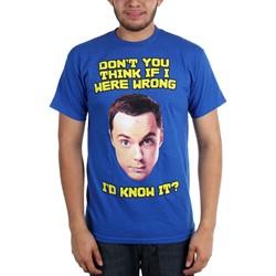 Big Bang Theory - Mens Don't You Think If I Were Wrong T-Shirt