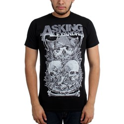 Asking Alexandria - Mens Skull Stack Slim Fit T-Shirt