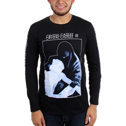 Crystal Castles - Mens Long-Sleeve 2013 Spring Tour Burka T-Shirt