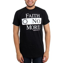 Faith No More - Mens Classic Logo V2 Black  T-Shirt