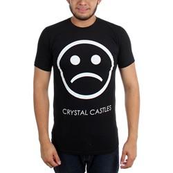 Crystal Castles - Mens Sad Face on Black  T-Shirt