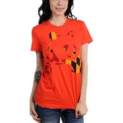 Panda Bear - Womens Orange Panda T-Shirt
