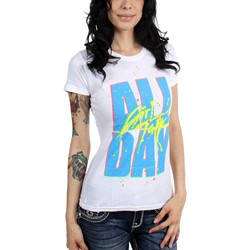 Girl Talk - Womens White All Day T-Shirt