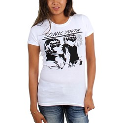 Sonic Youth - Womens White Goo T-Shirt
