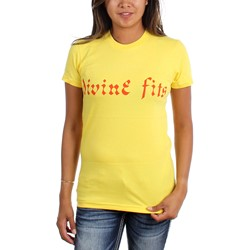 Divine Fits - Womens Orange Logo T-Shirt
