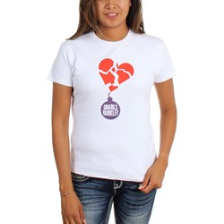 Gnarls Barkley - Womens Purple Lovebomb T-Shirt