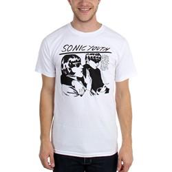 Sonic Youth - Mens White Goo T-Shirt