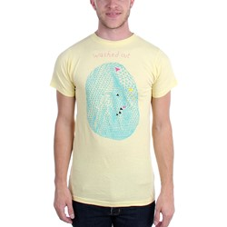 Washed Out - Mens Yellow Egg T-Shirt