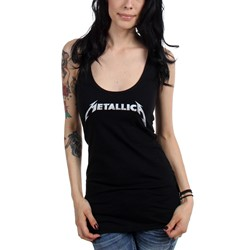Metallica - Juniors Logo Racerback Tank Top