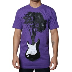 Tree Guitar S/S Mens T-shirt in Purple by Dress Code Clothing