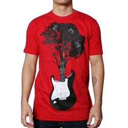 Tree Guitar S/S Mens T-shirt in Red by Dress Code Clothing