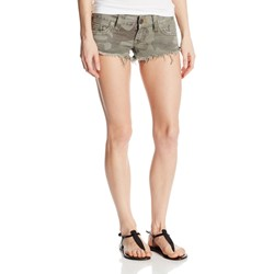 True Religion - Womens Bobby Camo Cut Off Shorts