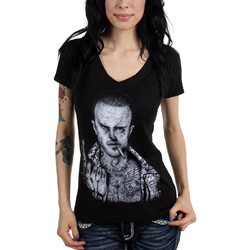 Black Market Art - Womens Pinkman V-Neck T-Shirt