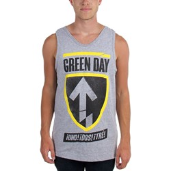 Green Day - Mens Uno Dos Tre Badge Tank Top