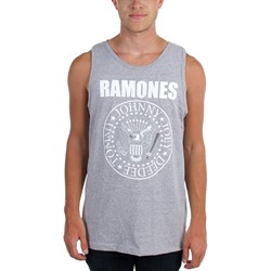 Ramones - Mens White Seal Tank Top