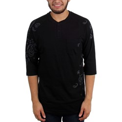 Famous Stars and Straps - Mens Pazed 3/4 Sleeve Henley Raglan T-Shirt