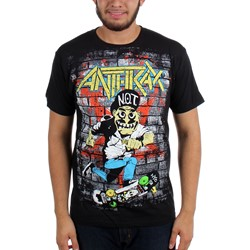 Anthrax - Mens Skater Guy T-shirt in Black