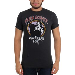 Alice Cooper - Mens Madhouse Rock Slim Fit T-shirt in Charcoal