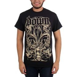 Down - Mens Fleur De Lys Crest T-shirt in Black
