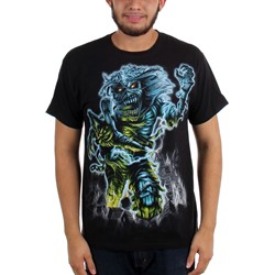 Iron Maiden - Mens Jumbo Somewhere Back in Time T-shirt in Black