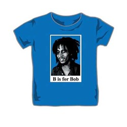 Bob Marley - B unisex-child Toddler T-Shirt in Royal Blue