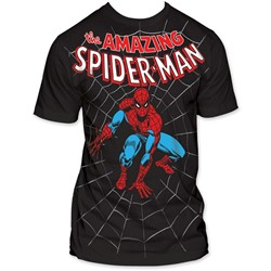 Spider-Man - Amazing Big Print Subway S/S T-Shirt in Black