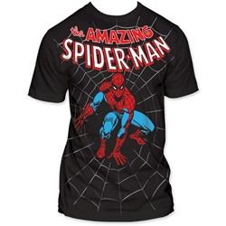 Spider-Man - Amazing Big Print Subway S/S T-Shirt in Black