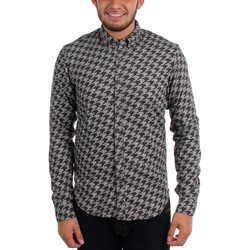 Scotch & Soda - Mens Brushed Cotton Houndstooth Button Down