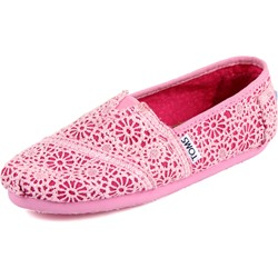 Toms - Youth Slip-On Shoes In Pink Crochet