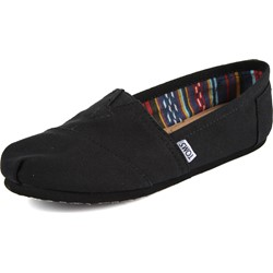 Toms - Womens Slip-On Shoes In Black/Black Canvas