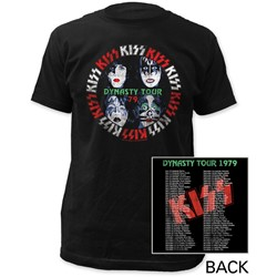 KISS - Mens Dynasty Tour Fitted T-Shirt