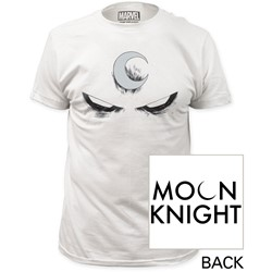 Moon Knight - Mens White Eyes Fitted T-Shirt