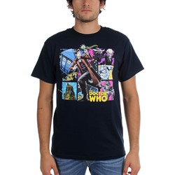 Dr. Who - Mens Comic Doctor Composition T-Shirt