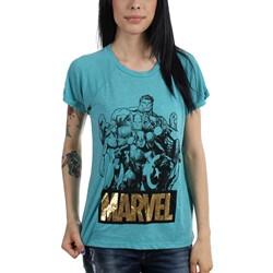 Marvel - Womens Sketch Drapey Raglan