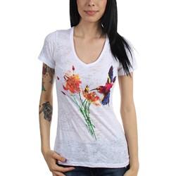 Project Iris - Womens Hummingbird V-Neck Burnout T-Shirt