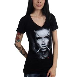 Sullen - Womens SA Connolly Badge V-Neck T-Shirt