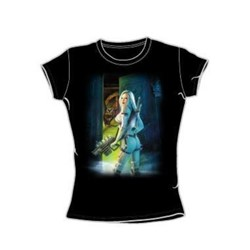 Heavy Metal - Uninvited  - Juniors Black S/S T-Shirt For Women
