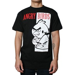 Angry Birds - Bird Faces Mens T-Shirt in Black