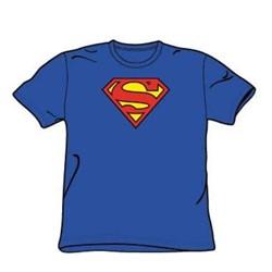 Superman - Classic Logo - Big Boys Royal S/S T-Shirt For Boys