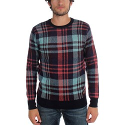 Scotch & Soda - Mens Multicolor Check Crewneck Pullover
