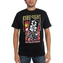 Rebel8 - Mens White Flag Short Sleeve T - Shirt