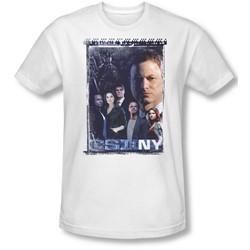 Csi Ny - Mens Watchful Eye T-Shirt In White