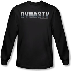 Dynasty - Mens Dynasty Shiny Long Sleeve Shirt In Black