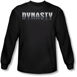 Dynasty - Mens Dynasty Shiny Long Sleeve Shirt In Black