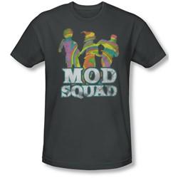 Mod Squad - Mens Mod Squad Run Groovy T-Shirt In Charcoal