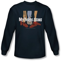 My Three Sons - Mens Shoes Logo Long Sleeve Shirt In Navy
