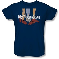 My Three Sons - Womens Shoes Logo T-Shirt In Navy