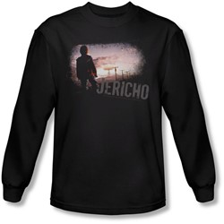 Jericho - Mens Mushroom Cloud Long Sleeve Shirt In Black