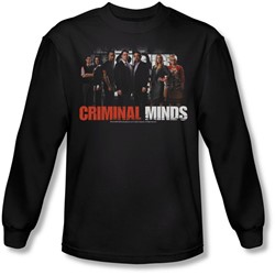 Criminal Minds - Mens The Brain Trust Long Sleeve Shirt In Black